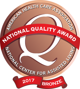 2017 American Healthcare Association Bronze National Quality Award!